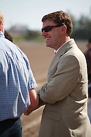 Animal Kingdom's trainer Graham Motion after winning his 2012 debut at Gulfstream Park, Hallandale Beach Florida.