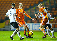 Blackpool's Ewan Bange and Owen Watkinson attack the Derby County defence<br /> <br /> Photographer Alex Dodd/CameraSport<br /> <br /> The FA Youth Cup Third Round - Blackpool U18 v Derby County U18 - Tuesday 4th December 2018 - Bloomfield Road - Blackpool<br />  <br /> World Copyright &copy; 2018 CameraSport. All rights reserved. 43 Linden Ave. Countesthorpe. Leicester. England. LE8 5PG - Tel: +44 (0) 116 277 4147 - admin@camerasport.com - www.camerasport.com