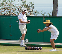 Laguna Beach Lawn Bowling Stock Photo