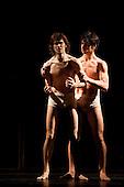 Iphigenie auf Tauris, Tanztheater Wuppertal Pina Bausch, Sadler's Wells, London, Pablo Aran Gimeno as Orest (left) and Damiano Ottavio Bigi as Pylades