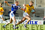 Kieran Walshe in action against Damien Somers Feale Rangers in the  Kerry County Football Championship on Saturday.