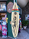 Surf Board Outside Shop