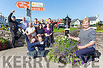 Eileen Burns and the Sneem Tidy Towns volunteers celebrate their score on Tuesday front l-r: Nicole O'Sullivan and Rosalyn van Daele. back Roland Hunter, Dave lee, Christine Morley, Sheena O'Sullivan and Back Dan Casey, Dave Hussey, Mike Madden and Joe Murphy