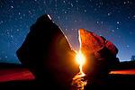 Glowing rock.  Maze district of Canyonlands National Park, Utah.