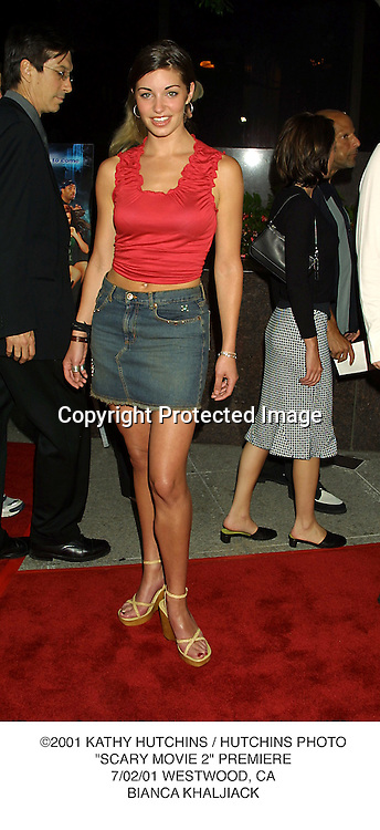"©2001 KATHY HUTCHINS / HUTCHINS PHOTO.""SCARY MOVIE 2"" PREMIERE.7/02/01 WESTWOOD, CA.BIANCA KHALJIACK"