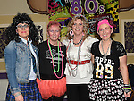 Emma Fogarty, Tricia and Geraldine Grogan and Anna-Marie Holdcroft pictured at the 80's night in the Grove House Dunleer to raise funds for the Paul Lannon Fight For Life fund. Photo:Colin Bell/pressphotos.ie