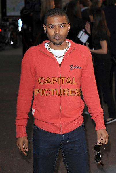 "NOEL CLARKE .attending ""Tropic Thunder"" UK Premiere, Odeon Leicester Square, London, England, 16th September 2008..half length red hoodie top jacket necklace .CAP/BEL.©Tom Belcher/Capital Pictures"