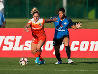 Kansas City, MO - Sunday July 02, 2017: Camille Levin, Brittany Taylor during a regular season National Women's Soccer League (NWSL) match between FC Kansas City and the Houston Dash at Children's Mercy Victory Field.