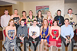 1587-1591.Prize: Enjoying the Kerry Badminton Association Annual Prize Night/Social in the Manor West Hotel, Tralee last Friday night were (seated) l-r: Tresia Carmody (county club), James Leane (Listowel), John O'Reilly (Kingdom), Michelle Carney (Listowel), Jennifer Keane (Killarney) and Noel Kilbride (Ballyheigue). Back l-r: Steven Barry (Killarney), Edel Broderick (Kingdom), Eileen O'Connor (Killarney), Lisa Kerfoot (Killarney), Catherine O'Connor (Kenmare), Sandra O'Connor (Kingdom), Paul O'Callighan (Listowel) and Eoin Gibbons (Listowel).