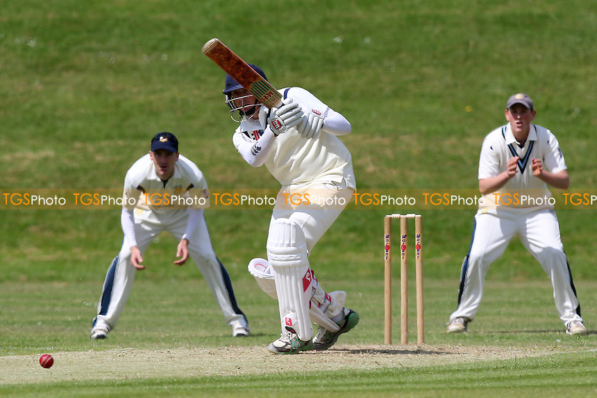 Ardleigh Green CC (batting) vs Horndon-on-the-Hill CC - Essex Cricket League at Central Park, Harold Hill  - 30/05/15 - MANDATORY CREDIT: Gavin Ellis/TGSPHOTO - Self billing applies where appropriate - contact@tgsphoto.co.uk - NO UNPAID USE