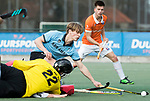 WASSENAAR - Hoofdklasse hockey heren, HGC-Bloemendaal (0-5). Thijmen Piket (HGC) keeper Sam van der Ven (HGC)   COPYRIGHT KOEN SUYK