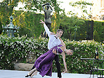 Dancers Russel Janzen and Gretchen Smith from Tom Gold Dance in the garden  at the Pocantico Center of the Rockefeller Brothers Fund