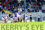 Kevin O'Gorman East Kerry rises over Barry O'Sullivan Dingle during the County Championship game in Fitzgerald Stadium on Sunday