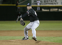 May 28, 2004:  Pitcher Tyler Yates of the Norfolk Tides, Triple-A International League affiliate of the New York Mets, during a game at Frontier Field in Rochester, NY.  Photo by:  Mike Janes/Four Seam Images