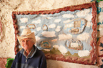 portrait of Leonard Knight inside a room at Salvation Mountain, near Niland, Calif.