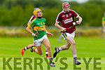Thomas Casey Causeway in action against John Griffin Lixnaw in the Kerry Senior Hurling Championship at Abbeydorney on Saturday evening.