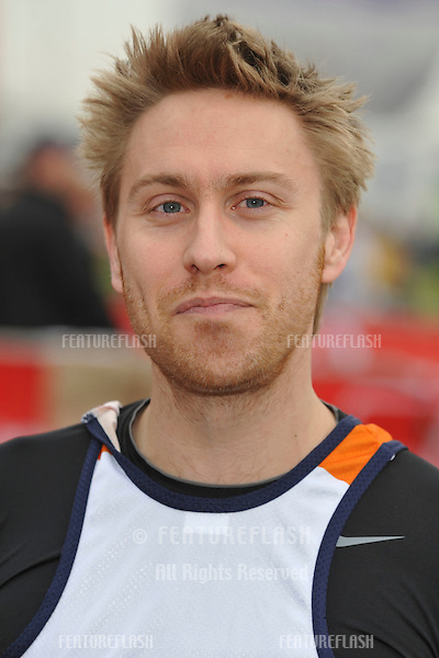 Russell Howard at the 2010 London Marathon, Greenwich, London. 25/04/2010  Picture by:  Steve Vas / Featureflash
