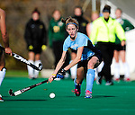 25 October 2009: Columbia University Lion midfielder/forward Maggie O'Connor, a Sophomore from Shaker Heights, Ohio, in action against the University of Vermont Catamounts at Moulton Winder Field in Burlington, Vermont. The Lions shut out the Catamounts 1-0. Mandatory Credit: Ed Wolfstein Photo