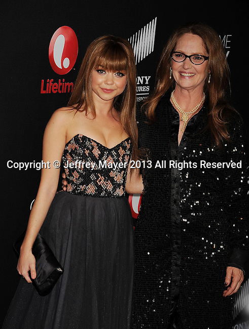 WEST HOLLYWOOD, CA- APRIL 16: Sarah Hyland and Melissa Leo arrive at the Lifetime movie premiere of 'Call Me Crazy: A Five Film' at Pacific Design Center on April 16, 2013 in West Hollywood, California.