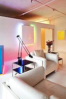 modern living room with artworks