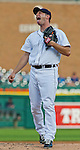 31 May 2011: Detroit Tigers pitcher Max Scherzer (37) sticks out his tongue and reacts after earning a strikeout during the Minnesota Twins at Detroit Tigers Major League Baseball game at Comerica Park, in Detroit, Michigan. The Tigers won 8-7. (Tony Ding/Icon SMI)