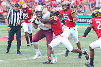 College Park, MD - September 22, 2018:  Minnesota Golden Gophers tight end Ko Kieft (42) catches a pass during the game between Minnesota and Maryland at  Capital One Field at Maryland Stadium in College Park, MD.  (Photo by Elliott Brown/Media Images International)