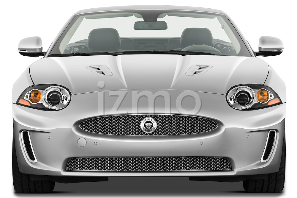 Straight front view of a 2011 Jaguar XKR Convertible