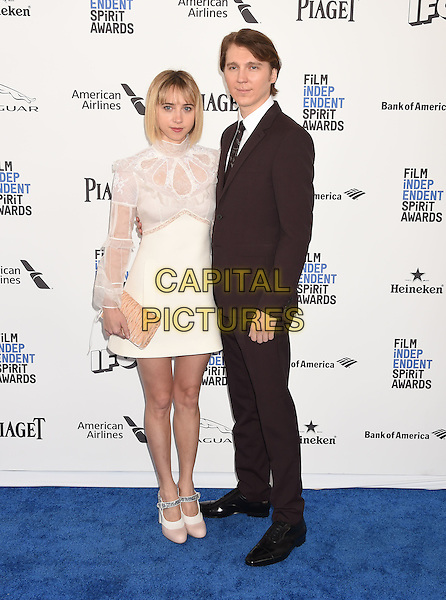 SANTA MONICA, CA - FEBRUARY 27: Actress Zoe Kazan (L) and actor Paul Dano arrive at the 2016 Film Independent Spirit Awards on February 27, 2016 in Santa Monica, California.<br /> CAP/ROT/TM<br /> &copy;TM/ROT/Capital Pictures