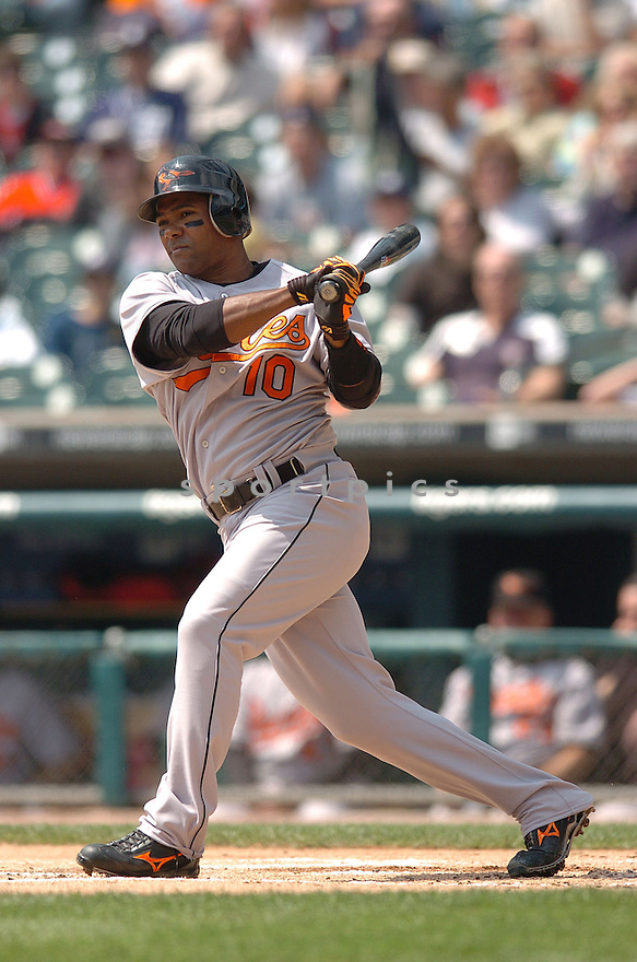 MIGUEL TEJADA, of the Baltimore Orioles , in action during the Orioles game against the Detroit Tigers on May 2, 2007 in Detroit, Tigers...Tigers win 5-4...Chris Bernacchi/ SportPics..