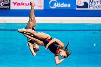 COBURN Maria, GIBSON Alison USA<br /> Diving <br /> Women's 3m Synchro Springboard Preliminary<br /> Day 04 17/07/2017 <br /> XVII FINA World Championships Aquatics<br /> Duna Arena Budapest Hungary July 15th - 30th 2017 <br /> Photo @A.Masini/Deepbluemedia/Insidefoto