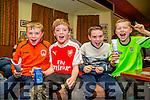 l-r  Sean O'Connor, Sean O'Connell, Kieran O'Connell and Cian O'Neill. enjoying the Na Gaeil Clubhouse Annual Race Night on Saturday