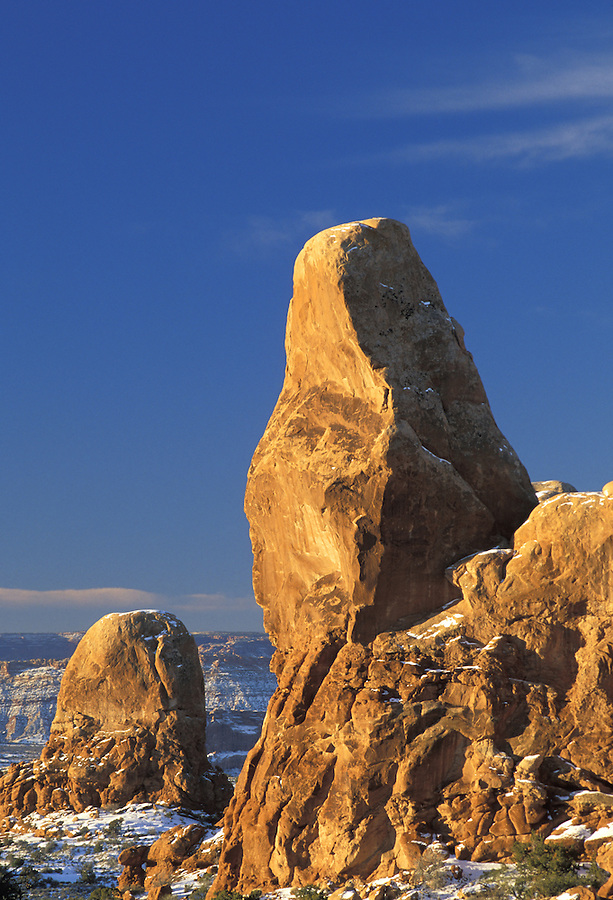"The ""Turret"" on Turret Arch, Arches National Park, Utah."