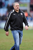 Gary Gold, Bath Rugby Head Coach, before the Aviva Premiership match between Harlequins and Bath Rugby at the Twickenham Stoop on Saturday 13th April 2013 (Photo by Rob Munro)
