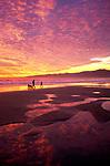 Santa Moinca beach at Sunset