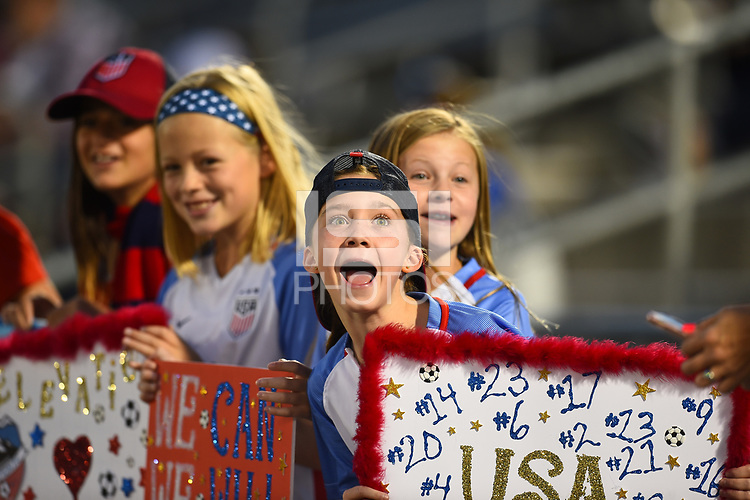 Commerce City, CO - Friday September 15, 2017: USA fans during an International friendly match between the women's National teams of the United States (USA) and New Zealand (NZL) at Dick's Sporting Goods Park.