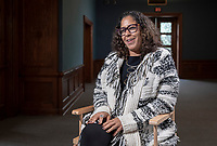Regina Freer, Professor, Politics; Advisory Committee, Black Studies, Urban and Environmental Policy and is a faculty member involved in Campaign Semester, photographed December, 5, 2018.<br />