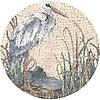 "14"" Egret medallion in Travertine White, Thassos, Calacatta Tia, Carrara, Bardiglio, Nero Marquina, Giallo Reale, Emperador Dark, Spring Green, Verde Alpi, Verde Luna"