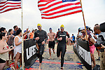 MIAMI BEACH, FLORIDA - APRIL 03: Athletes participates in Life Time South Beach Triathlon benefiting the St. Jude Children Hospital at Lummus Park on Sunday April 3, 2016 in Miami Beach, Florida. ( Photo by Johnny Louis / jlnphotography.com )