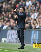Arsenal manager Unai Emery <br /> <br /> Photographer Rob Newell/CameraSport<br /> <br /> The Premier League - Tottenham Hotspur v Arsenal - Saturday 2nd March 2019 - Wembley Stadium - London<br /> <br /> World Copyright © 2019 CameraSport. All rights reserved. 43 Linden Ave. Countesthorpe. Leicester. England. LE8 5PG - Tel: +44 (0) 116 277 4147 - admin@camerasport.com - www.camerasport.com
