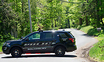 SOUTHBURY, CT-052118JS01--Southbury and State police were on the scene of a resident who barricaded themselves in their home on Purchase Brook Road in Southbury on Monday. <br /> Jim Shannon Republican American