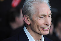 NEW YORK, NY - NOVEMBER 13: Charlie Watts at 'The Rolling Stones Crossfire Hurricane' Premiere at Ziegfeld Theater on November 13, 2012 in New York City. Credit mpi01/MediaPunch Inc. /NortePhoto/nortephoto@gmail.com