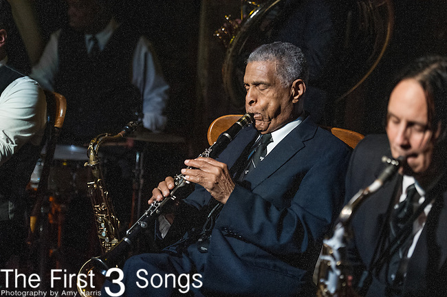 Charlie Gabriel of the Preservation Hall Jazz Band performs at Preservation Hall in New Orleans, LA.