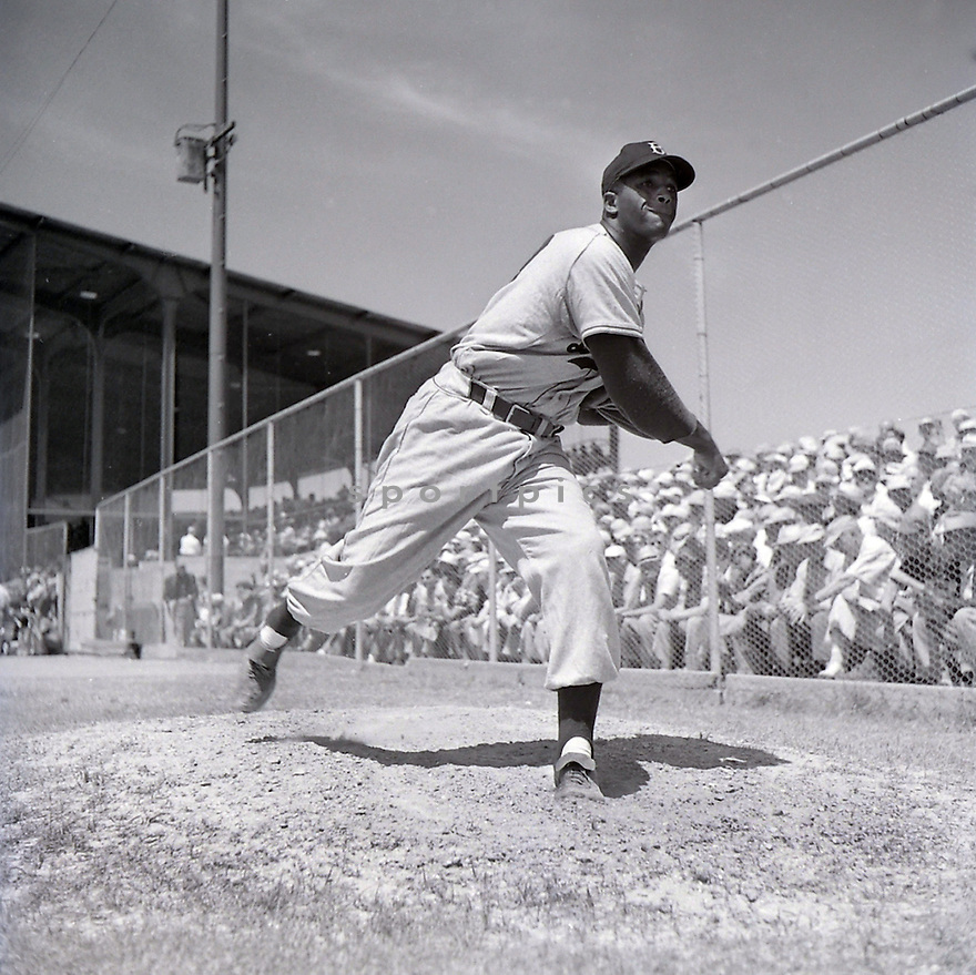 Brooklyn  Dodgers Joe Black (49) warming up during spring training. Joe Black played for 6 years with 3 different teams and was the 1952 NL Rookie of the Year.