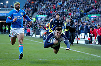 2019 Six Nations Championship Round 1, BT Murrayfield, Edinburgh, Scotland 2/2/2019 Scotland vs Italy Scotland s Blair Kinghorn scores the first try of the game Blair Kinghorn scores the first try 2/2/2019 Foto INPHO/Imago/Ryan Byrne/Insidefoto