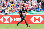 Amanaki Nicole of New Zealand runs with the ball during the HSBC Hong Kong Sevens 2018 match between New Zealand and Samoa on April 7, 2018 in Hong Kong, Hong Kong. Photo by Marcio Rodrigo Machado / Power Sport Images