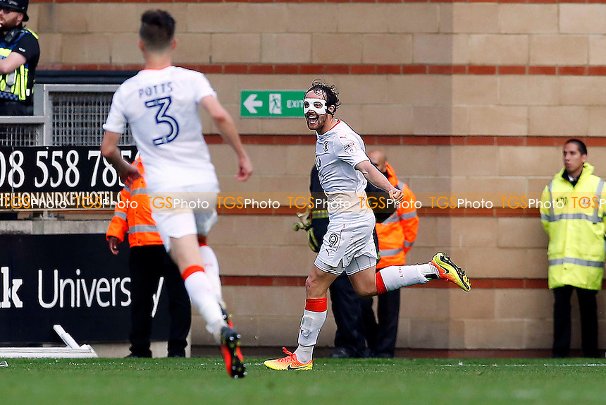 No.9 luton's 2nd goalscorer Danny Hylton scores & celebrates during Leyton Orient vs Luton Town, Sky Bet EFL League 2 Football at the Matchroom Stadium on 15th October 2016