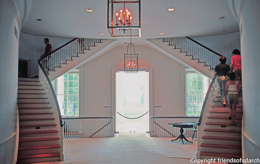 Thomas Jefferson: The Rotunda. Interior, 2nd story. Note ovals.  Photo '85.