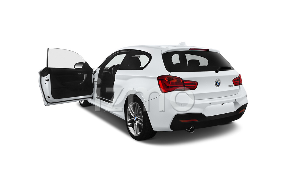 Car images close up view of a 2018 BMW 1 Series M Sport Ultimate 3 Door Hatchback doors