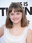 Joey King at Columbia Pictures' World Premiere of This is the End Premiere held at The Regency Village Theatre in Westwood, California on June 03,2013                                                                   Copyright 2013 Hollywood Press Agency