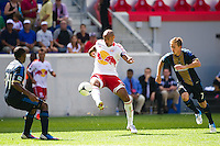 Thierry Henry (14) of the New York Red Bulls. The New York Red Bulls defeated the Philadelphia Union 2-0 during a Major League Soccer (MLS) match at Red Bull Arena in Harrison, NJ, on July 21, 2012.